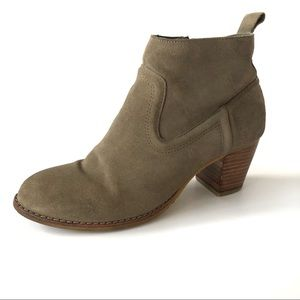 Dolce Vita DV Suede Leather Ankle Booties Tan 7